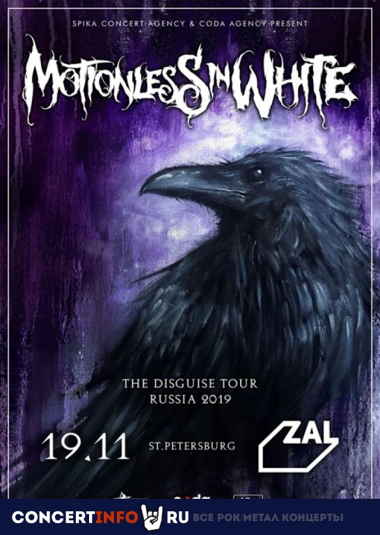 Motionless in White 19 ноября 2019, концерт в ZAL, Санкт-Петербург